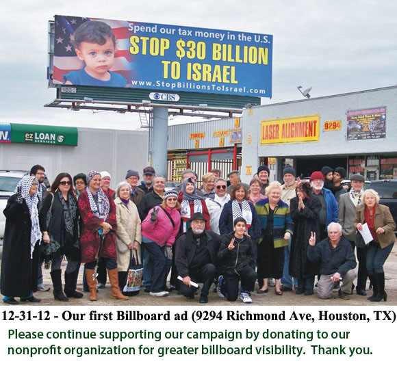 Stop Billions To Israel!