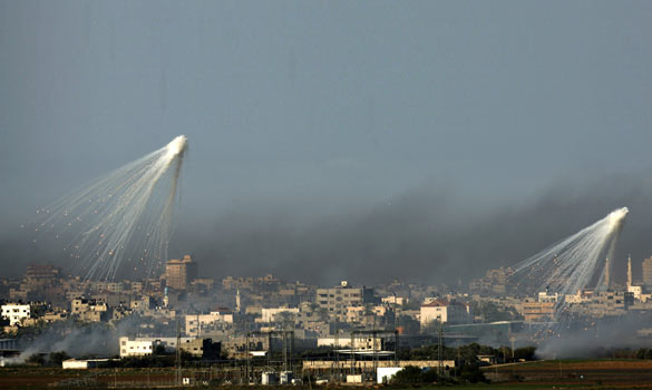 white phosphorus on Gaza