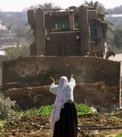 woman and bulldozer